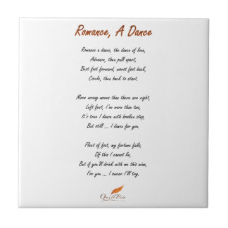 Romance, A Dance Poem Ceramic Tile