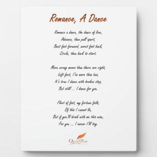 Romance, A Dance Poem Plaque