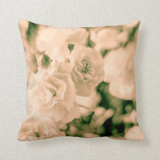 Romance and Ruffles Carnations floral design Cushion