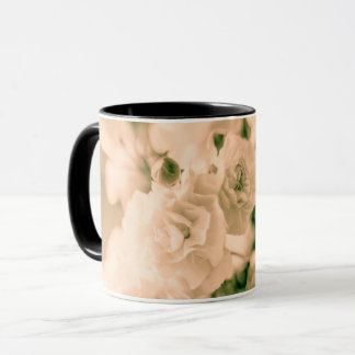 Romance and Ruffles Carnations floral design Mug