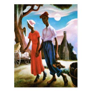 Romance by Thomas Hart Benton Postcard