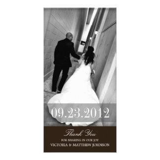 ROMANCE IN BLACK  | WEDDING THANK YOU CARD PHOTO GREETING CARD