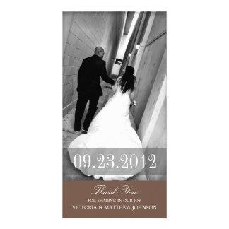 ROMANCE IN BROWN | WEDDING THANK YOU CARD CUSTOM PHOTO CARD