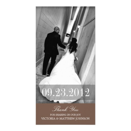 ROMANCE IN BROWN | WEDDING THANK YOU CARD PICTURE CARD