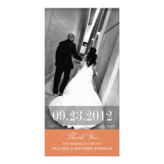 ROMANCE IN ORANGE | WEDDING THANK YOU CARD