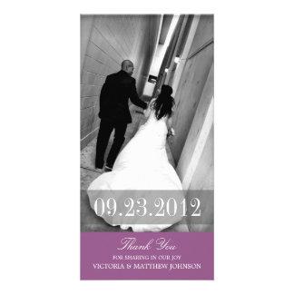 ROMANCE IN PURPLE | WEDDING THANK YOU CARD