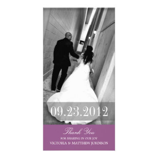 ROMANCE IN PURPLE | WEDDING THANK YOU CARD PERSONALISED PHOTO CARD