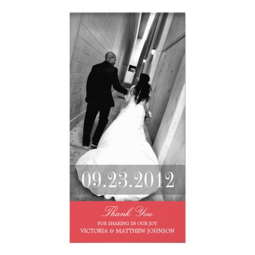 ROMANCE IN RED | WEDDING THANK YOU CARD CUSTOMIZED PHOTO CARD