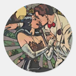 Romance in the Moonlight Round Sticker
