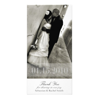 ROMANCE IN WHITE PERSONALIZED PHOTO CARD