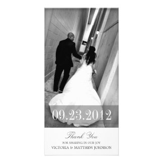 ROMANCE IN WHITE | WEDDING THANK YOU CARD CUSTOMISED PHOTO CARD