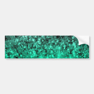 ROMANCE ME IN GREEN Irish Ombre Stars Painting Bumper Sticker