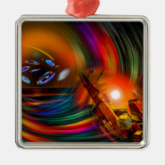 Romance OF sailing - time tunnel Metal Ornament