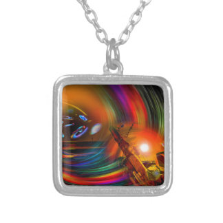 Romance OF sailing - time tunnel Silver Plated Necklace