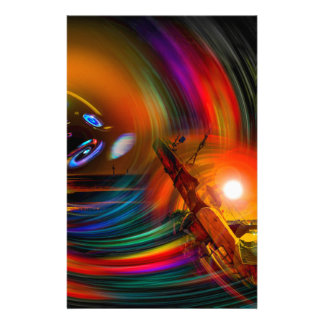 Romance OF sailing - time tunnel Stationery