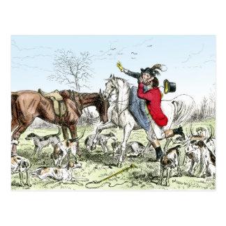 Romance on the Hunt Postcard