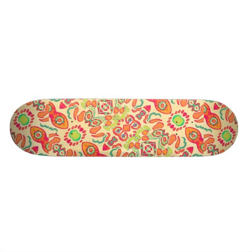 Romance Ornament Swirls Skate Board