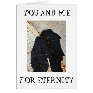 "ROMANCE/SHADOW HUG ON ""OUR 1st ANNIVERSARY"" Card"