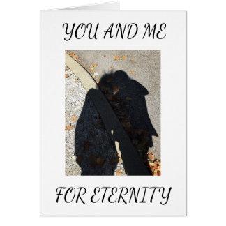 "ROMANCE/SHADOW HUG ON ""OUR ANNIVERSARY"" CARD"
