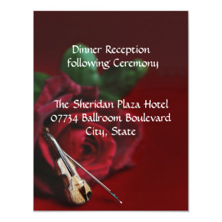 Romance Wedding Reception Card