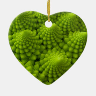 Romanesco Broccoli Fractal Vegetable Ceramic Ornament