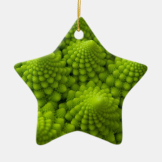 Romanesco Broccoli Fractal Vegetable Ceramic Ornament