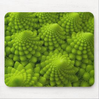 Romanesco Broccoli Fractal Vegetable Mouse Pad