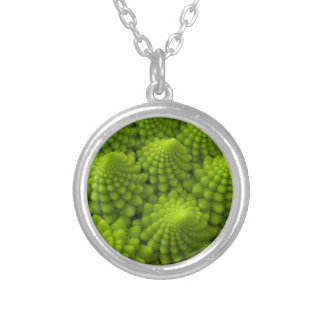 Romanesco Broccoli Fractal Vegetable Silver Plated Necklace