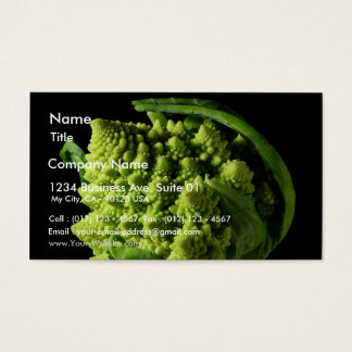 Romanesco Broccoli Fractals Business Card