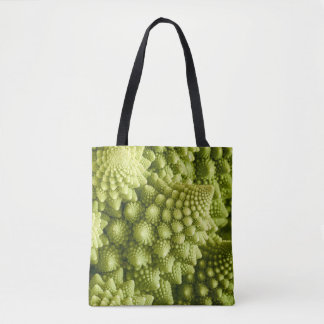 Romanesco broccoli vegetable close up tote bag