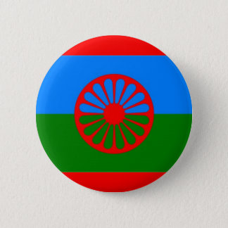 ROMANI FLAG 6 CM ROUND BADGE