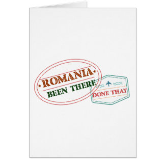 Romania Been There Done That Card