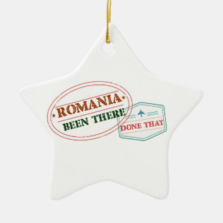 Romania Been There Done That Ceramic Ornament