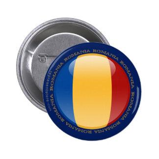 Romania Bubble Flag 6 Cm Round Badge
