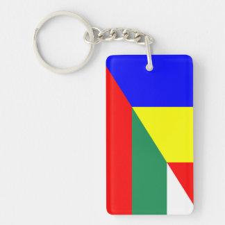 romania bulgaria flag country half symbol key ring