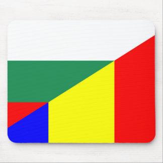 romania bulgaria flag country half symbol mouse pad