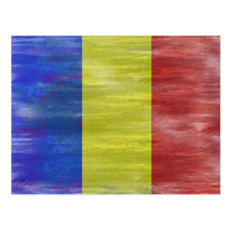 Romania distressed Romanian flag Postcard