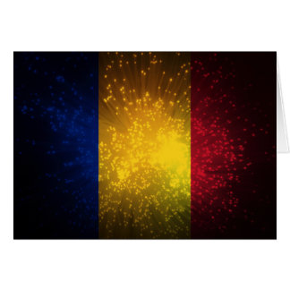 Romania Flag Firework Note Card