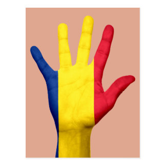 Romania flag postcard