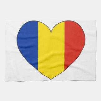 Romania Flag Simple Tea Towel
