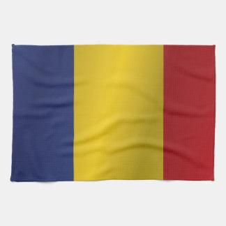 Romania flag tea towel