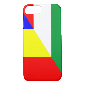 romania hungary flag country half symbol iPhone 8/7 case
