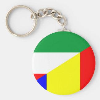 romania hungary flag country half symbol key ring