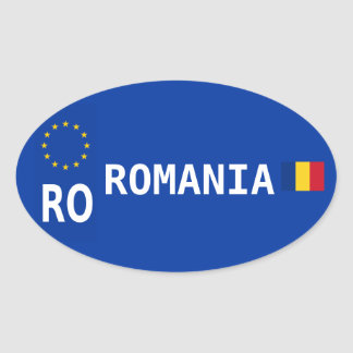 Romania License Plate Oval Sticker