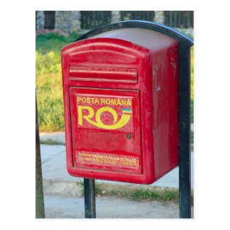 Romania, Post box Postcard