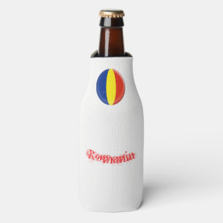 Romania Romanian Romansk Romanski Flag Bottle Cooler