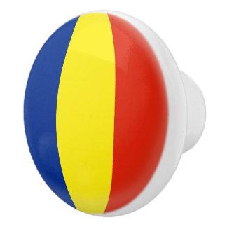 Romania Romanian Romansk Romanski Flag Ceramic Knob