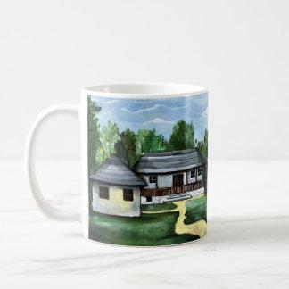 Romania - Traditional Transylvanian  Rustic House Coffee Mug