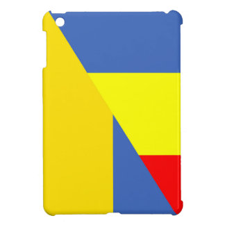 romania ukraine flag country half symbol iPad mini case