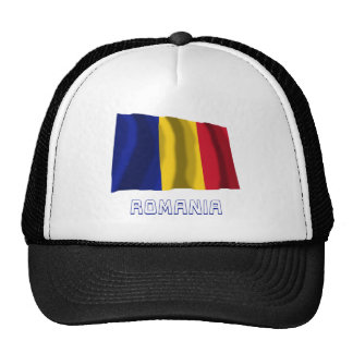 Romania Waving Flag with Name Trucker Hat